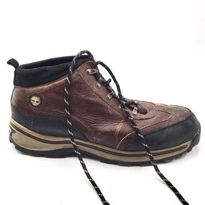 Timberland boys size 7 hiking shoes brown leather